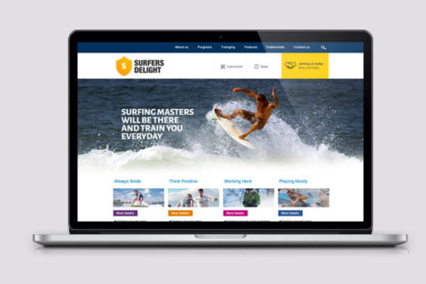 Surfers Featured PSD